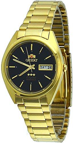 腕時計 オリエント メンズ FAB00004B 【送料無料】Orient #FAB00004B Men's 3 Star Standard Gold Tone Black Dial Automatic Watch腕時計 オリエント メンズ FAB00004B
