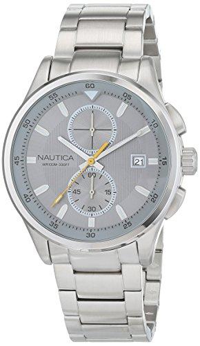 ノーティカ 腕時計 メンズ NAD19553G Nautica Men's NCT 19 Quartz Watch with Stainless-Steel Strap, Silver, 12 (Model: NAD19553G)ノーティカ 腕時計 メンズ NAD19553G
