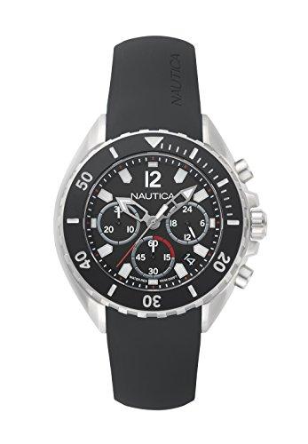 ノーティカ 腕時計 メンズ NAPNWP002 Nautica Men's Newport Stainless Steel Japanese-Quartz Watch with Silicone Strap, Black, 22 (Model: NAPNWP002)ノーティカ 腕時計 メンズ NAPNWP002