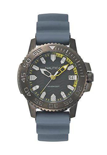 ノーティカ 腕時計 メンズ NAPKYW004 【送料無料】Nautica Men's Keywest Stainless Steel Japanese-Quartz Watch with Silicone Strap, Grey, 22 (Model: NAPKYW004)ノーティカ 腕時計 メンズ NAPKYW004
