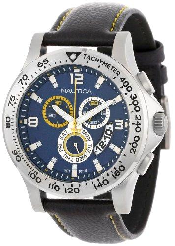 ノーティカ 腕時計 メンズ N19608G Nautica Men's N19608G NST 600 Chrono Carving Color Sport Classic Analog with Enamel Bezel Watchノーティカ 腕時計 メンズ N19608G