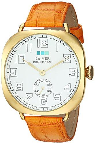 ラメールコレクションズ 腕時計 レディース LMOVW9503 La Mer Collections Women's Japanese-Quartz Watch with Leather Calfskin Strap, Orange, 22.22 (Model: LMOVW9503)ラメールコレクションズ 腕時計 レディース LMOVW9503