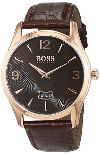 ヒューゴボス 高級腕時計 メンズ 1513426 【送料無料】Hugo Boss Boss Herrenuhr 1513426 Silver / Brown Leather Analog Quartz Men's Watchヒューゴボス 高級腕時計 メンズ 1513426