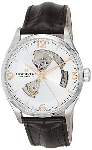 腕時計 ハミルトン メンズ H32705551 【送料無料】Hamilton Jazzmaster Silver Dial Leather Strap Men's Watch H32705551腕時計 ハミルトン メンズ H32705551