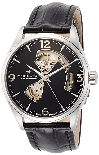 腕時計 ハミルトン メンズ H32705731 【送料無料】Hamilton Jazzmaster Automatic Open Heart Black Dial Men's Watch H32705731腕時計 ハミルトン メンズ H32705731