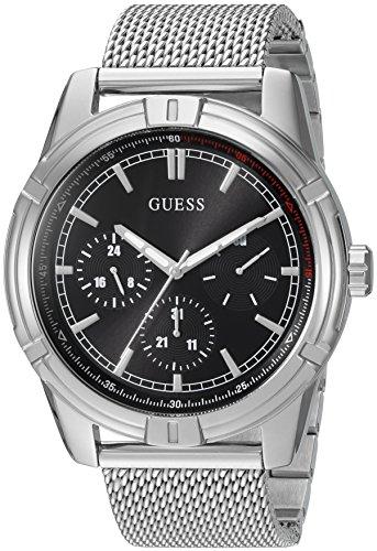 ゲス GUESS 腕時計 メンズ U0965G1 GUESS Men's Quartz Watch with Stainless-Steel Strap, Silver, 22 (Model: U0965G1)ゲス GUESS 腕時計 メンズ U0965G1
