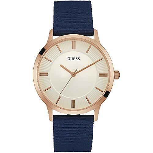 ゲス GUESS 腕時計 メンズ Gent 【送料無料】Guess Silver Dial Blue Fabric Strap Men's Watch W0795G1ゲス GUESS 腕時計 メンズ Gent