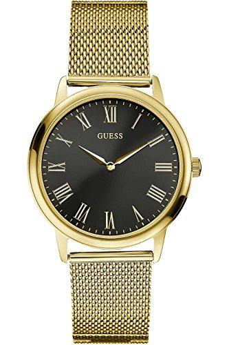 ゲス GUESS 腕時計 メンズ W0406G6 GUESS W0406G6,Men's Dress,Stainless Steel,Gold-Tone,Black Dial,WRゲス GUESS 腕時計 メンズ W0406G6