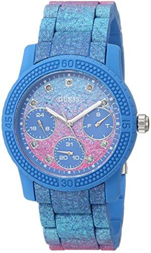 ゲス GUESS 腕時計 レディース U0944L2 GUESS Women's Quartz Watch with Silicone Strap, Blue, 10 (Model: U0944L2)ゲス GUESS 腕時計 レディース U0944L2