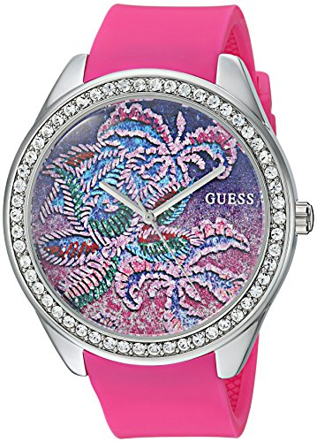 "ゲス GUESS 腕時計 レディース U0960L1 【送料無料】GUESS Women""s Stainless Steel Quartz Watch with Silicone Strap, Pink, 19 (Model: U0960L1)ゲス GUESS 腕時計 レディース U0960L1"