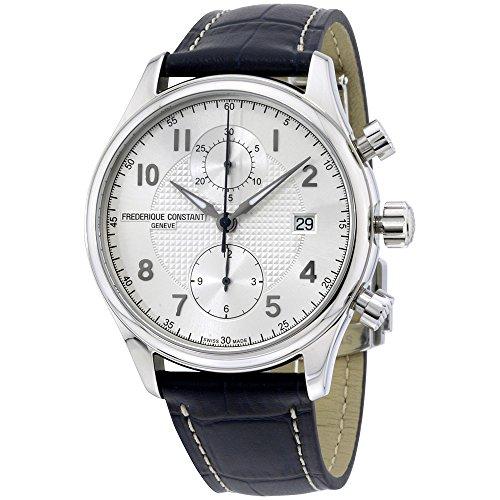 フレデリックコンスタント フレデリック・コンスタント 腕時計 メンズ Frederique Constant Men's FC393RM5B6 Run About Stainless Steel Watch with Blue Leather Bandフレデリックコンスタント フレデリック・コンスタント 腕時計 メンズ