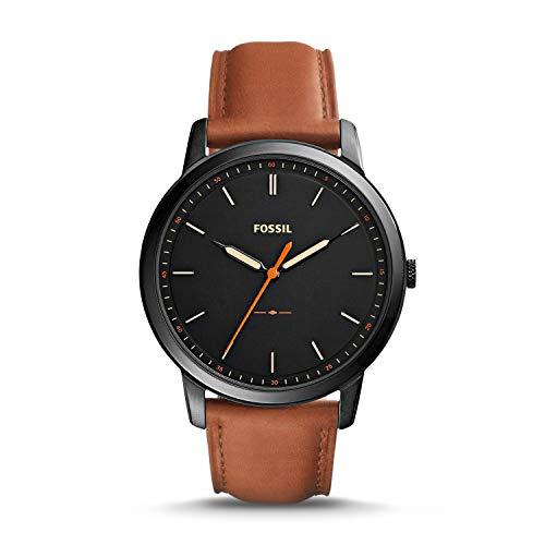 フォッシル 腕時計 メンズ FS5305 【送料無料】Fossil Men's The Minimalist Quartz Stainless Steel and Leather Casual Watch, Color: Black, Brown (Model: FS5305)フォッシル 腕時計 メンズ FS5305