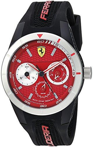 フェラーリ 腕時計 メンズ 830437 Ferrari Men's RedRevT Stainless Steel Quartz Watch with Rubber Strap, red, 21 (Model: 830437)フェラーリ 腕時計 メンズ 830437