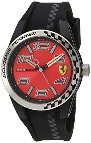 腕時計 フェラーリ メンズ 830335 【送料無料】Scuderia Ferrari Men's Quartz Watch with Silicone Strap, Black, 21 (Model: 830335)腕時計 フェラーリ メンズ 830335