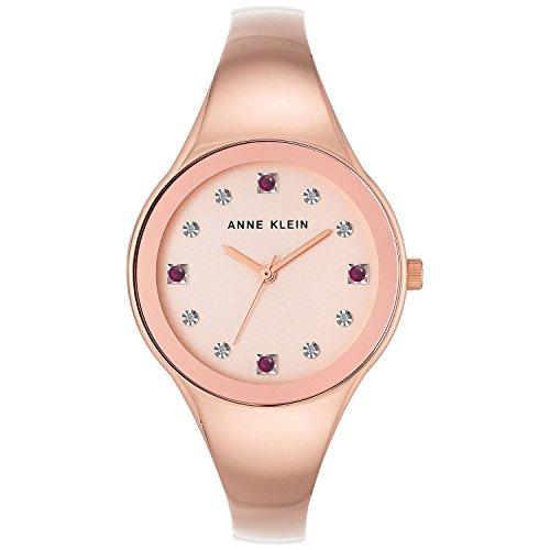 アンクライン 腕時計 レディース 【送料無料】Anne Kleinn Women's Ruby and Diamond-Accent Rose Gold-Tone Bangle Bracelet Watch 34mm AK/2860RURGアンクライン 腕時計 レディース