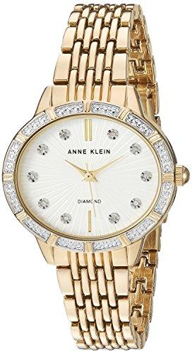 アンクライン 腕時計 レディース AK/2782SVGB Anne Klein Women's AK/2782SVGB Diamond-Accented Gold-Tone Bracelet Watchアンクライン 腕時計 レディース AK/2782SVGB