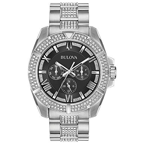 ブローバ 腕時計 メンズ 96C126 【送料無料】Bulova Men's Swarovski Crystal Quartz Watch with Stainless-Steel Strap, Silver, 22 (Model: 96C126)ブローバ 腕時計 メンズ 96C126