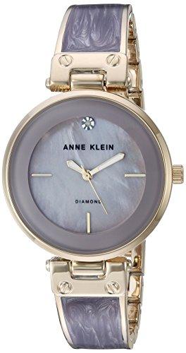 アンクライン 腕時計 レディース AK/2512LVGB Anne Klein Women's AK/2512LVGB Diamond-Accented Gold-Tone and Light Lavender Marbleized Bangle Watchアンクライン 腕時計 レディース AK/2512LVGB