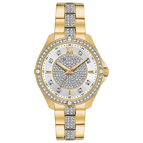 ブローバ 腕時計 レディース 98L228 【送料無料】Bulova Women's 98L228 Swarovski Crystal Gold Tone Bracelet Watchブローバ 腕時計 レディース 98L228