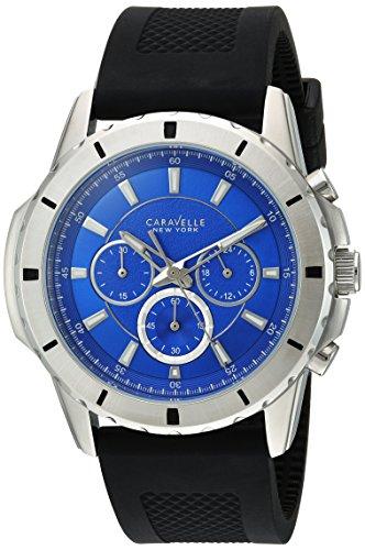 ブローバ 腕時計 メンズ 43A138 Bulova Men's Stainless Steel Analog-Quartz Watch with Silicone Strap, Black, 24 (Model: 43A138)ブローバ 腕時計 メンズ 43A138