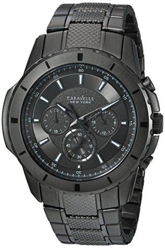 ブローバ 腕時計 メンズ 45A139 Caravelle New York Men's Analog-Quartz Watch with Stainless-Steel Strap, Black, 24 (Model: 45A139)ブローバ 腕時計 メンズ 45A139