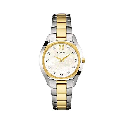 ブローバ 腕時計 レディース 98P145 Bulova - 98P145 Two Tone Gold Slim Duetブローバ 腕時計 レディース 98P145