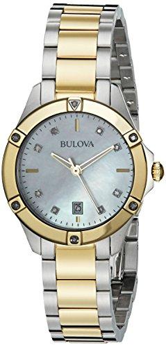腕時計 ブローバ レディース 98R217 【送料無料】Bulova 98R217 13mm Two Tone Stainless Steel Two Tone Watch Bracelet腕時計 ブローバ レディース 98R217