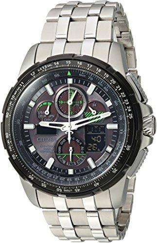 シチズン 逆輸入 海外モデル 海外限定 アメリカ直輸入 JY8051-59E 【送料無料】Citizen Men's 'Eco-Drive' Quartz Stainless Steel Aviator Watch, Color:Silver-Toned (Model: JY8051-59E)シチズン 逆輸入 海外モデル 海外限定 アメリカ直輸入 JY8051-59E