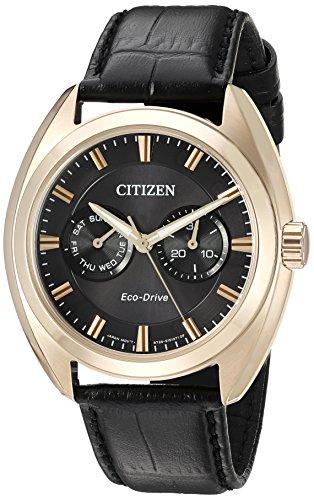 シチズン 逆輸入 海外モデル 海外限定 アメリカ直輸入 BU4013-07H Citizen Men's 'Dress' Quartz Stainless Steel and Leather Casual Watch, Color:Black (Model: BU4013-07H)シチズン 逆輸入 海外モデル 海外限定 アメリカ直輸入 BU4013-07H