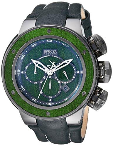 インヴィクタ インビクタ リザーブ 腕時計 メンズ 24438 【送料無料】Invicta Men's Reserve Stainless Steel Analog-Quartz Watch with Leather Calfskin Strap, Green, 30 (Model: 24438)インヴィクタ インビクタ リザーブ 腕時計 メンズ 24438