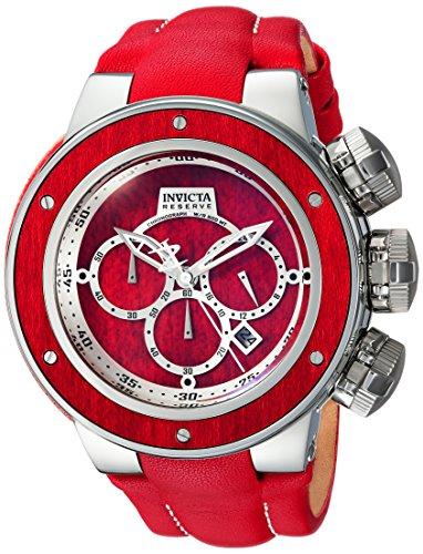 インヴィクタ インビクタ リザーブ 腕時計 メンズ 24435 Invicta Men's Reserve Stainless Steel Analog-Quartz Watch with Leather Calfskin Strap, red, 27 (Model: 24435)インヴィクタ インビクタ リザーブ 腕時計 メンズ 24435