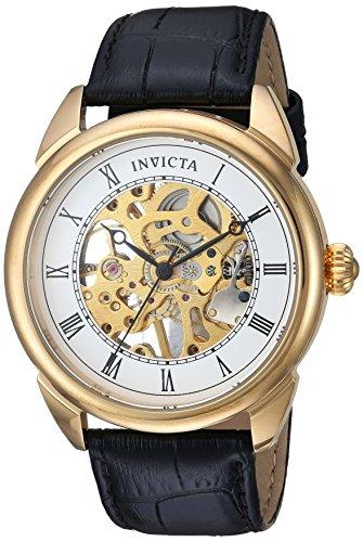 インヴィクタ インビクタ 腕時計 メンズ 23535 【送料無料】Invicta Men's Specialty Stainless Steel Mechanical-Hand-Wind Watch with Leather Calfskin Strap, Black, 21 (Model: 23535)インヴィクタ インビクタ 腕時計 メンズ 23535