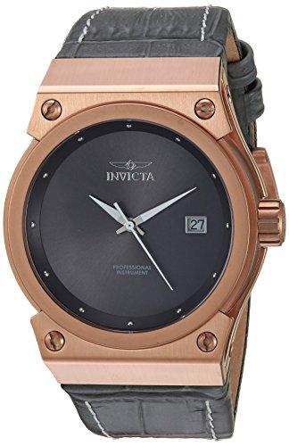 インヴィクタ インビクタ 腕時計 レディース 24463 【送料無料】Invicta Women's Akula Gold Quartz Watch with Leather Calfskin Strap, Grey, 27 (Model: 24463)インヴィクタ インビクタ 腕時計 レディース 24463