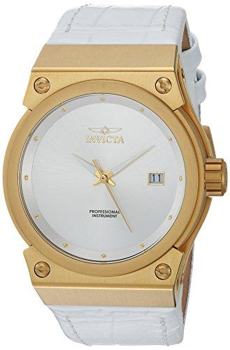 インヴィクタ インビクタ 腕時計 レディース 24462 【送料無料】Invicta Women's Akula Quartz Watch with Leather Calfskin Strap, White, 27 (Model: 24462)インヴィクタ インビクタ 腕時計 レディース 24462