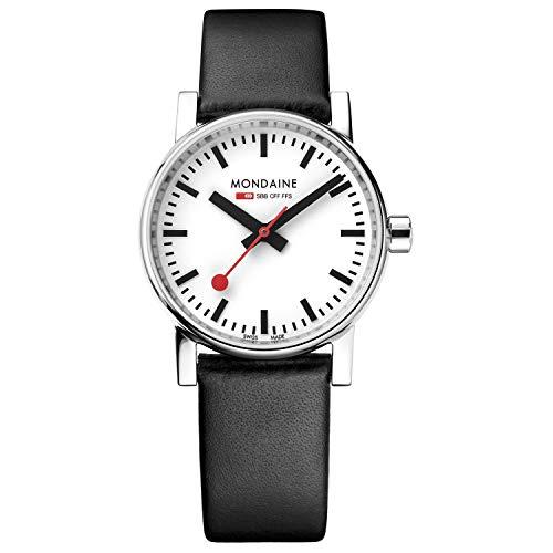 モンディーン 北欧 スイス 腕時計 レディース MSE.30110.LB 【送料無料】Mondaine Women's SBB Stainless Steel Swiss-Quartz Watch with Leather Calfskin Strap, Black, 16 (Model: MSE.30110.LB)モンディーン 北欧 スイス 腕時計 レディース MSE.30110.LB