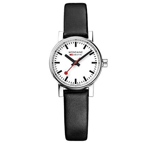 モンディーン 北欧 スイス 腕時計 レディース MSE.26110.LB 【送料無料】Mondaine Women's SBB Stainless Steel Swiss-Quartz Watch with Leather Calfskin Strap, Black, 13 (Model: MSE.26110.LB)モンディーン 北欧 スイス 腕時計 レディース MSE.26110.LB