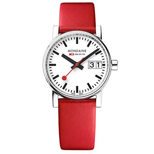 モンディーン 北欧 スイス 腕時計 レディース MSE.30210.LC 【送料無料】Mondaine Women's SBB Stainless Steel Swiss-Quartz Watch with Leather Calfskin Strap, red, 16 (Model: MSE.30210.LC)モンディーン 北欧 スイス 腕時計 レディース MSE.30210.LC