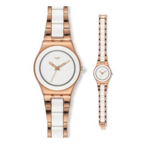 腕時計 スウォッチ レディース 夏の腕時計特集 YLG121G 【送料無料】Swatch Women's YLG121G Rose Pearl Stainless Steel Watch腕時計 スウォッチ レディース 夏の腕時計特集 YLG121G