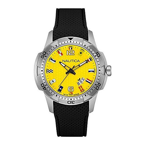 ノーティカ 腕時計 メンズ NAI13516G Nautica NCS 16 Flag Yellow Dial Mens Watch NAI13516Gノーティカ 腕時計 メンズ NAI13516G