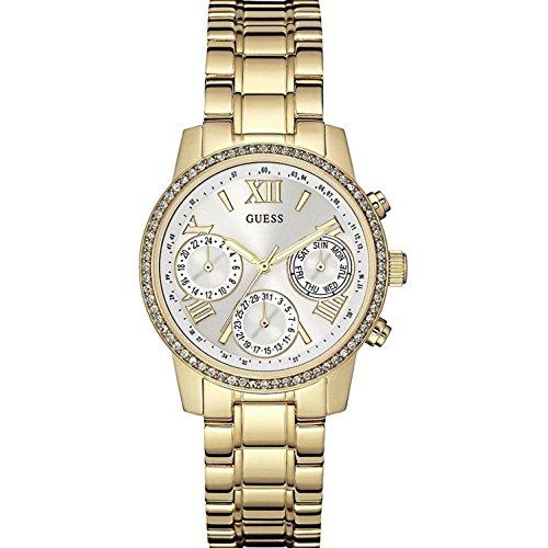 ゲス GUESS 腕時計 レディース W0623L3 Guess Women's Mini Sunrise 36.5mm Gold-Tone Dial Steel Bracelet & Case Quartz Analog Watch W0623L3ゲス GUESS 腕時計 レディース W0623L3