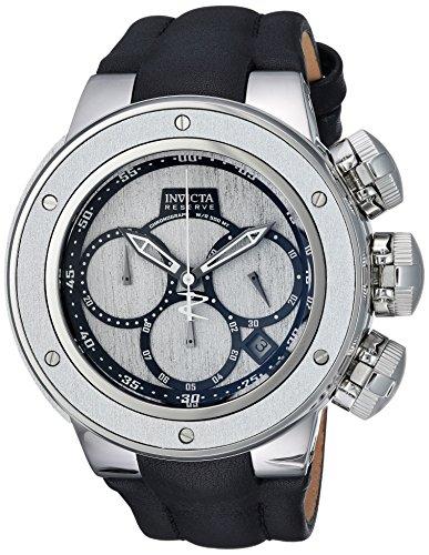 インヴィクタ インビクタ リザーブ 腕時計 メンズ 22940 【送料無料】Invicta Men's Reserve Stainless Steel Quartz Watch with Leather Calfskin Strap, Black, 31 (Model: 22940)インヴィクタ インビクタ リザーブ 腕時計 メンズ 22940