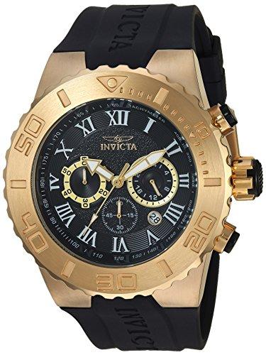 インヴィクタ インビクタ プロダイバー 腕時計 メンズ 24777 Invicta Men's 'Pro Diver' Quartz Gold-Tone and Polyurethane Casual Watch, Color:Black (Model: 24777)インヴィクタ インビクタ プロダイバー 腕時計 メンズ 24777