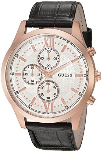 ゲス GUESS 腕時計 メンズ U0876G2 【送料無料】GUESS Men's U0876G2 Dressy Stainless Steel Multi-Function Watch with Chronograph Dial and Genuine Leather Strap Buckleゲス GUESS 腕時計 メンズ U0876G2