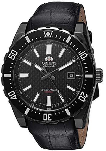 オリエント 腕時計 メンズ FAC09001B0 【送料無料】Orient Men's Nami Stainless Steel Japanese-Automatic Diving Watch with Leather Calfskin Strap, Black, 24 (Model: FAC09001B0)オリエント 腕時計 メンズ FAC09001B0