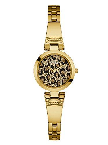 ゲス GUESS 腕時計 レディース GUESS Women's Gold-Tone Animal-Print Petite Watchゲス GUESS 腕時計 レディース