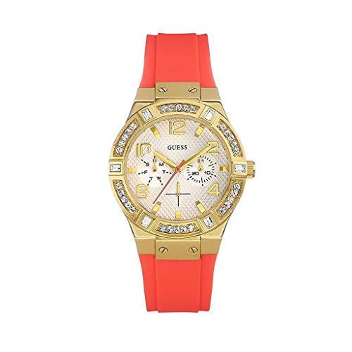 ゲス GUESS 腕時計 レディース W0564L2 【送料無料】GUESS W0564L2 Women's Jet Setter Multifunction,Gold Tone Case,Silicone/Rubber Strap,50m WRゲス GUESS 腕時計 レディース W0564L2