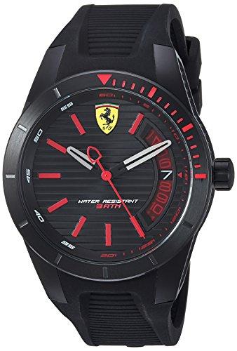 腕時計 フェラーリ メンズ 830428 【送料無料】Ferrari Men's RedRevT Stainless Steel Quartz Watch with Rubber Strap, Black, 22 (Model: 830428)腕時計 フェラーリ メンズ 830428
