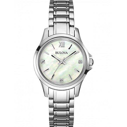 ブローバ 腕時計 レディース 96P152 【送料無料】Bulova Women's Diamond 96P152 Silver Stainless-Steel Quartz Watchブローバ 腕時計 レディース 96P152