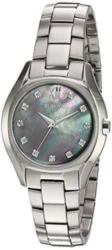 ブローバ 腕時計 レディース 96P158 【送料無料】Bulova Women's Quartz Watch with Silver-Plated-Stainless-Steel Strap, 16 (Model: 96P158)ブローバ 腕時計 レディース 96P158