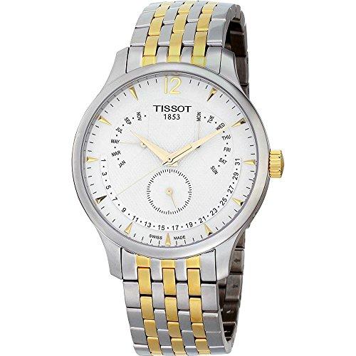 ティソ 腕時計 メンズ T0636372203700送料無料 Tissot Tradition Perpetual White Dial Two tone Mens Watch T0636372203700ティソ 腕時計 メンズ T0636372203700vb6gYfy7